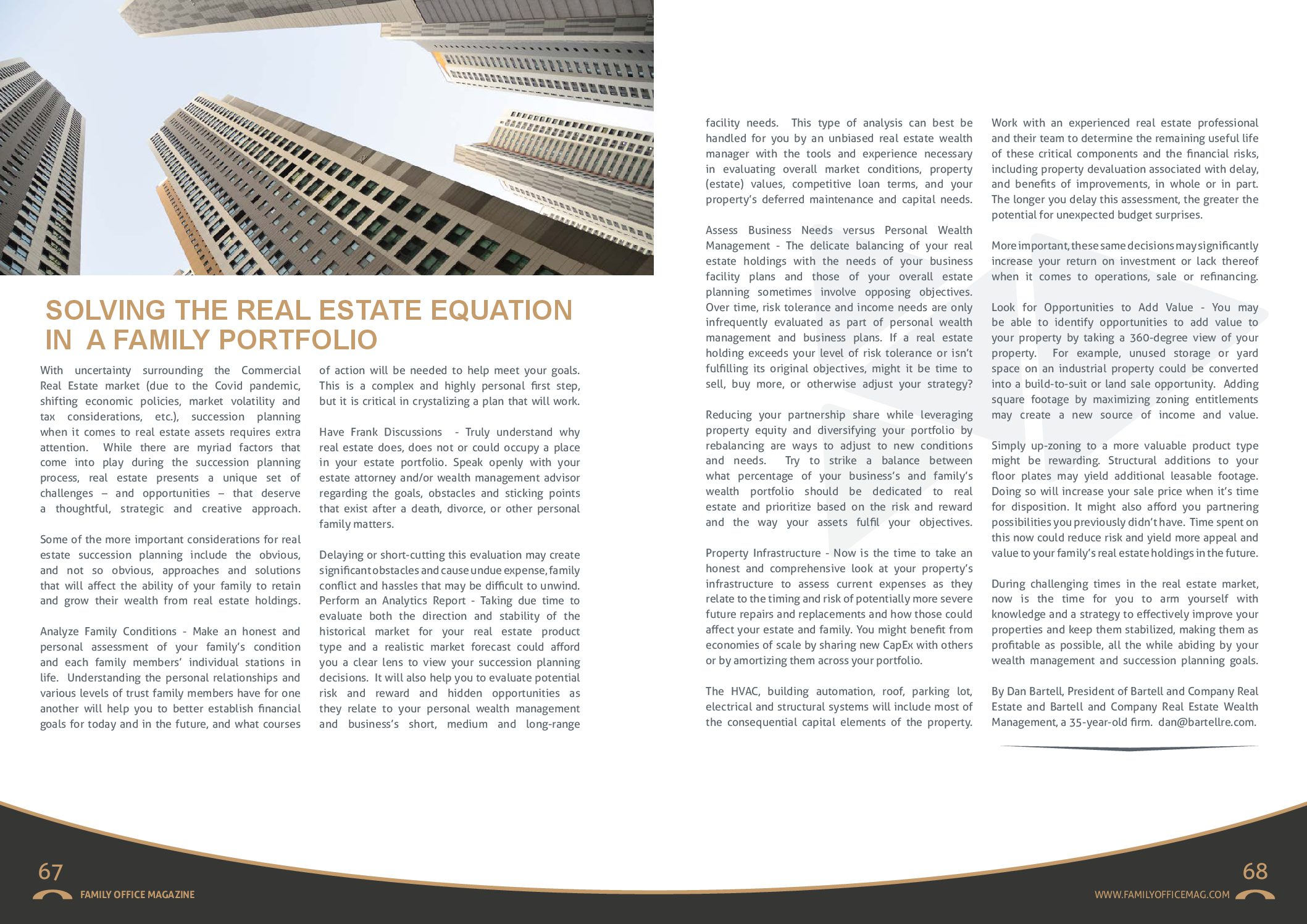 Solving the Real Estate Equation in a Family Portfolio